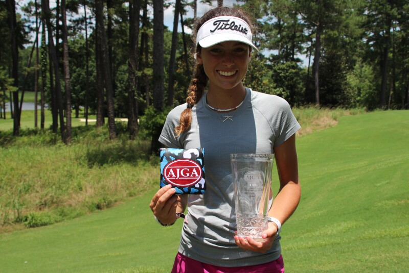 Kate Barber Runner-Up Photo with Trophy, Putter Cover-AJGA Junior All-Star presented by Auburn-Opelika Tourism.JPG