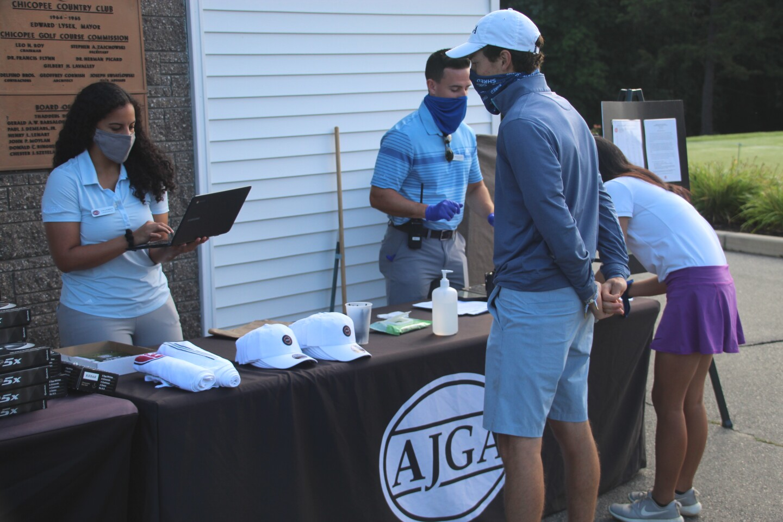 AJGA Caila Roberts helping with registration - 2020 - Junior Golf Hub Championship presented by John D. Mineck Foundation.JPG