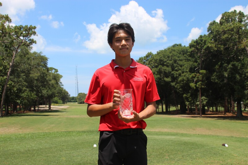 Aaron Zhang top 5 awards trophy  -2021- AJGA Senior Showcase (2).JPG