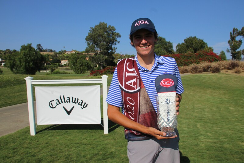 Lincoln Melcher Trophy Pic - 2020 - Callaway Golf Junior Championship.JPG