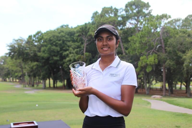 Sritha Vemuri top 5 awards trophy  -2021- AJGA Senior Showcase.JPG