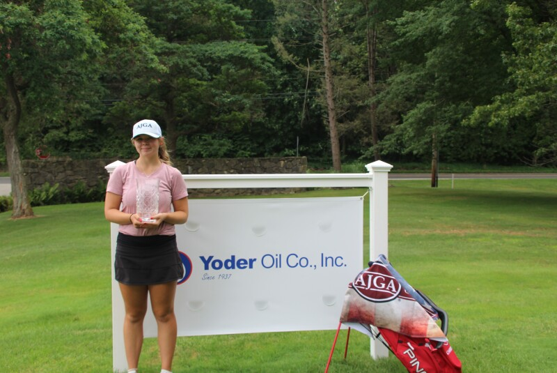 Taylor Kehoe with Trophy and Banner-2020-Yoder Oil