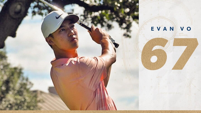 Evan Vo first round Junior PLAYERS 2020 leader