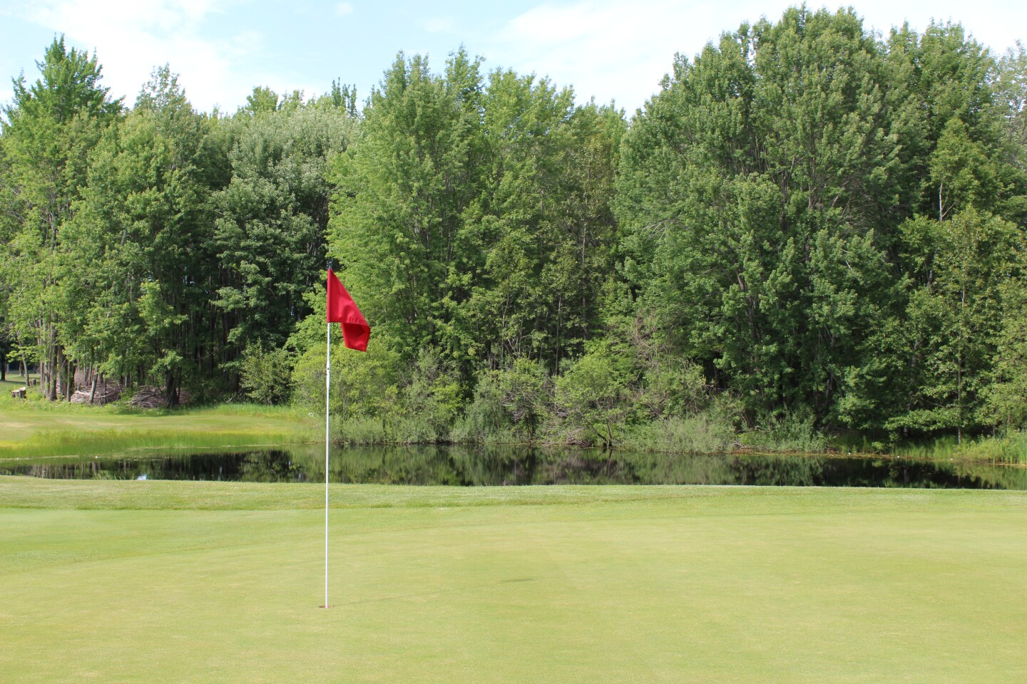 Green of hole 13 - 2020- Coca-Cola Junior Championship at Boyne Highlands.JPG