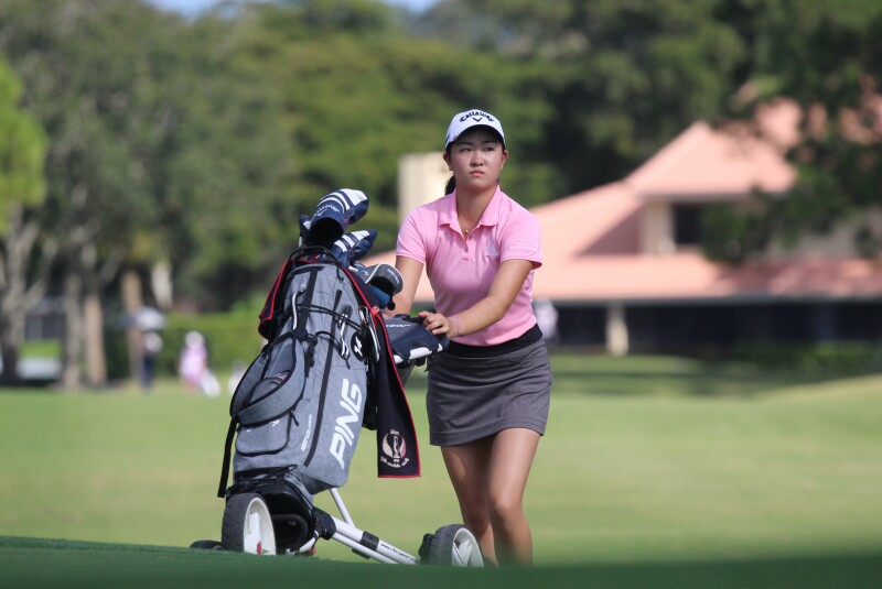 Rose Zhang with Push Cart - 2020 - Rolex Tournament of Champions.JPG