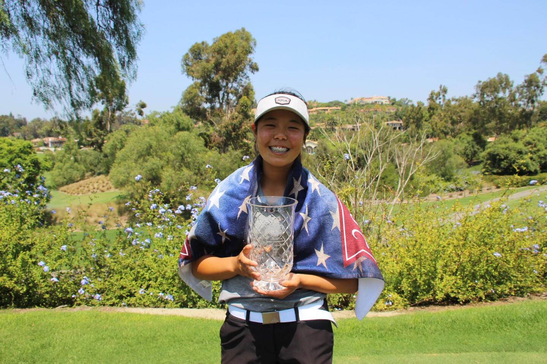 Jasmine Koo Trophy Smiling - 2020 - Callaway Golf Junior Championship.JPG