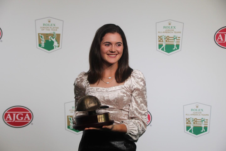 Allie Kantor with Jerry Cole Sportsmanship Award - 2020 - Rolex Junior All-America Team Award Photos (1).JPG