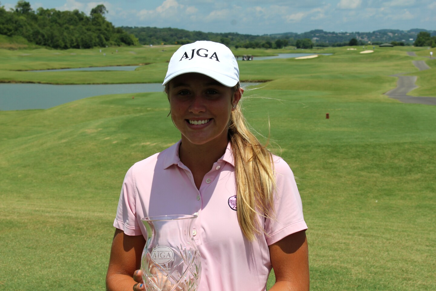 Karson Adkins individual trophy outside - 2020 - AJGA Preview presented by Visit Sevierville and Tennessee Tourism,.JPG