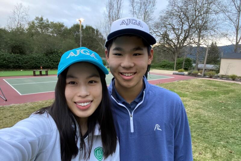 Sammy and Matthew Lin in AJGA Hats.jpg