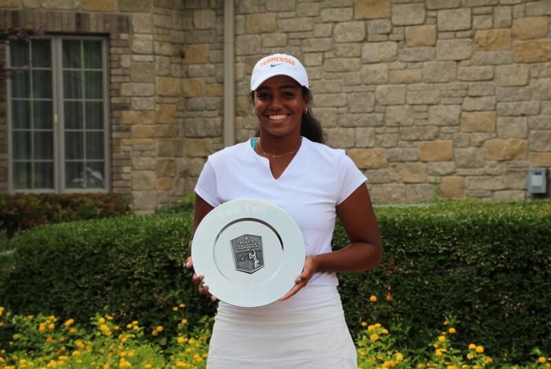 Bailey Davis with trophy plate awards ceremony-2020-Rolex Girls Junior Championship.JPG