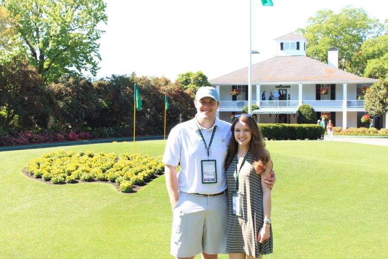 Patrick McGuire and his wife Taylor at The Masters.jpg