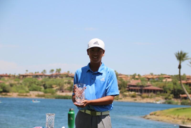 Sihao Cong 2nd place trophy - AJGA Lake Las Vegas Jr - 2021.JPG