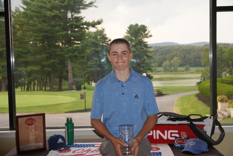 Luke Smith 2nd place trophy -2021- Toftrees Jr.JPG