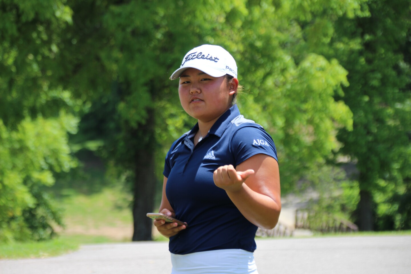 Lynn Lim giving speech -2020- UHY St. Louis Junior presented by Family Golf and Learning Center.JPG