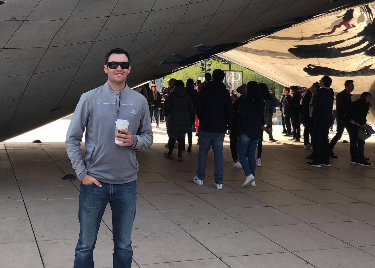 Matt Emmi with the Bean in Chicago.jpg