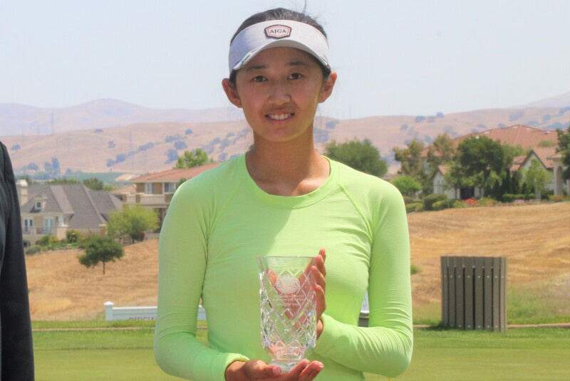 Selena Tang with trophy-2021-AJGA Junior at Ruby Hill presented by Visit Tri-Valley.JPG