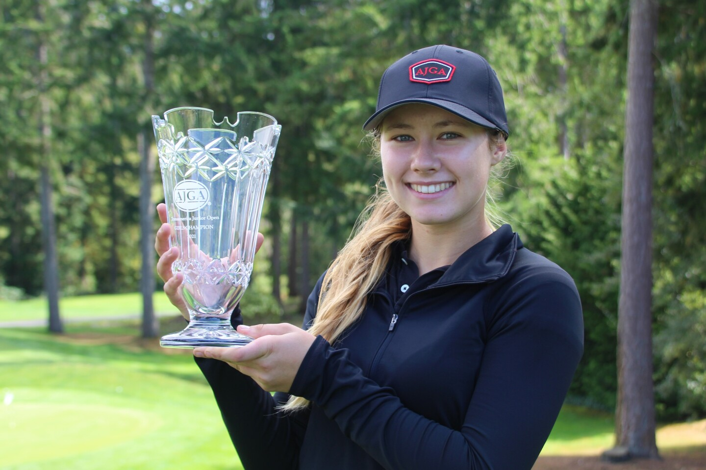 Lauren Sammon holding up champ trophy-2021-Transamerica Junior Open.JPG