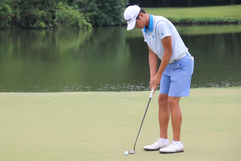 WEBSITE Hanseung Chang making putt - No. 9 green - 2019 AJGA Junior Championship at the University Club.jpg