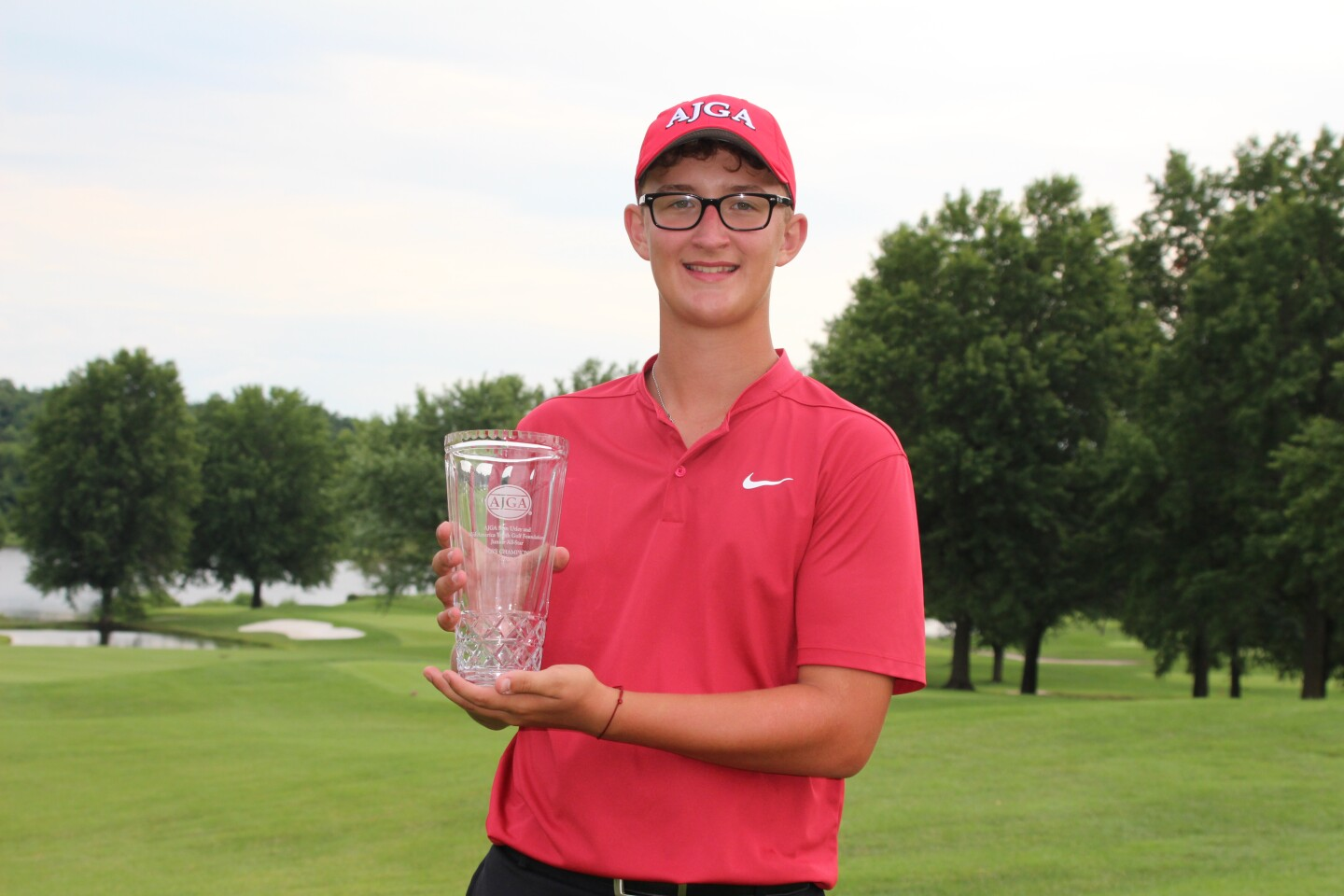 Cy Norman with AJGA Hat -2020- Stan Utley and Mid America Youth Golf Foundation Junior All-Star.JPG