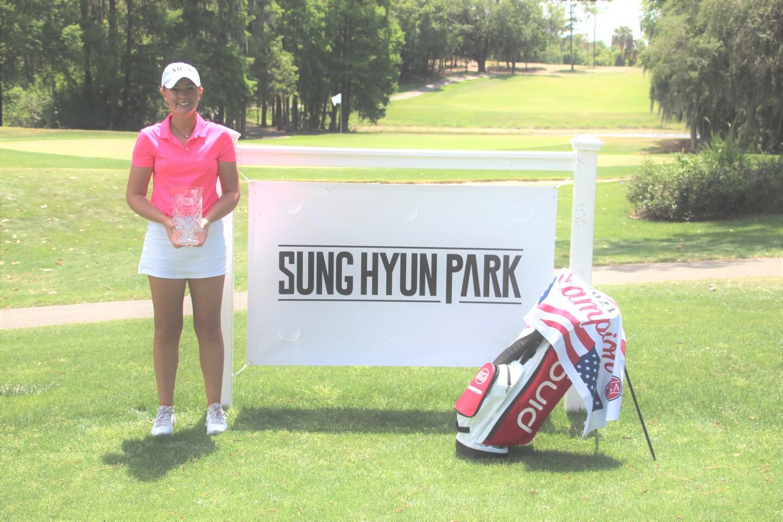 Bailey Shoemaker ajga hat banner and bag - Sung Hyun Park Junior Championship - 2021.JPG