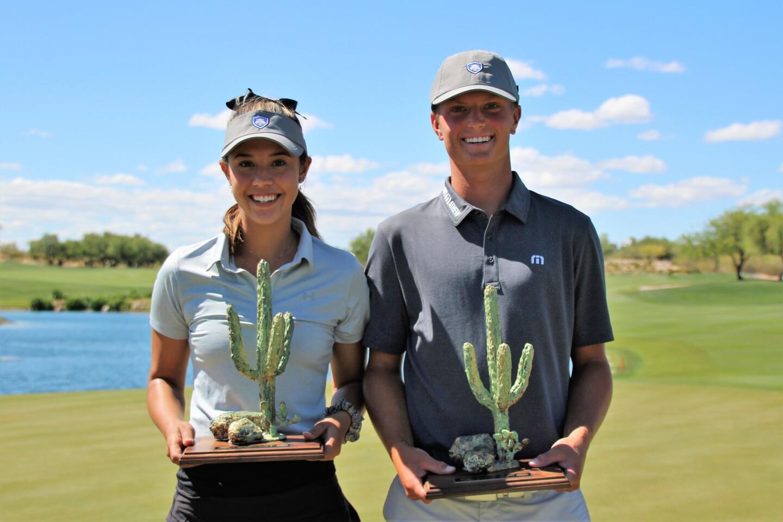 Alexa Melton and William Mouw with champs trophies - 2019 Thunderbird International Junior.JPG