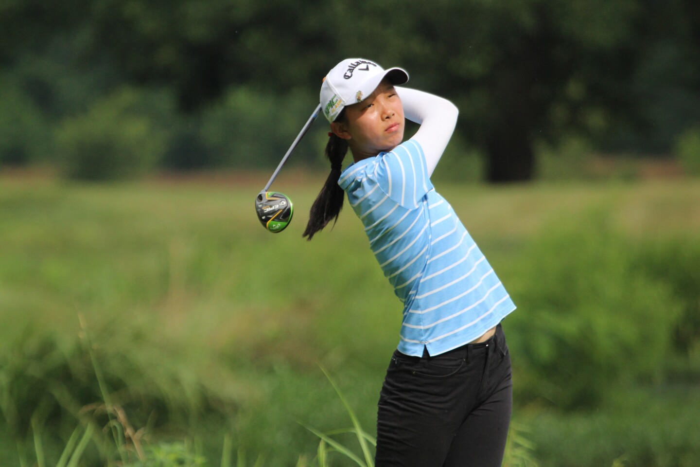 Leigh Chien Action - KPMG Stacy Lewis Junior All-Star Invitational - 2020.JPG