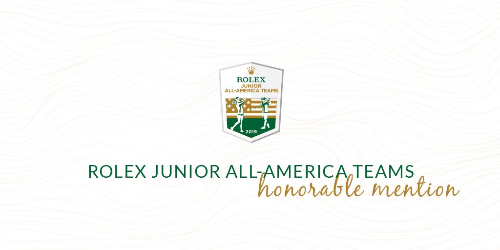 Honorable Mention 2019 Rolex Junior All-America Team
