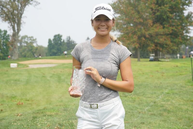 Katherine Lu second place trophy -2021- AJGA Championship presented by Stuart Francis, Princeton Varsity Golf '74.JPG