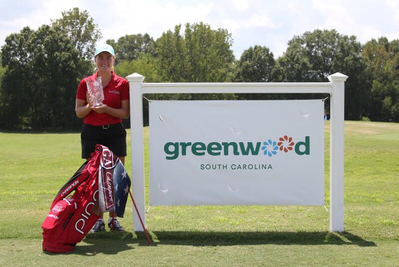 Lauren Clark Champion Gifts with Discover Greenwood Sponsor Sign - 2020 - Greenwood Junior Championship.jpg