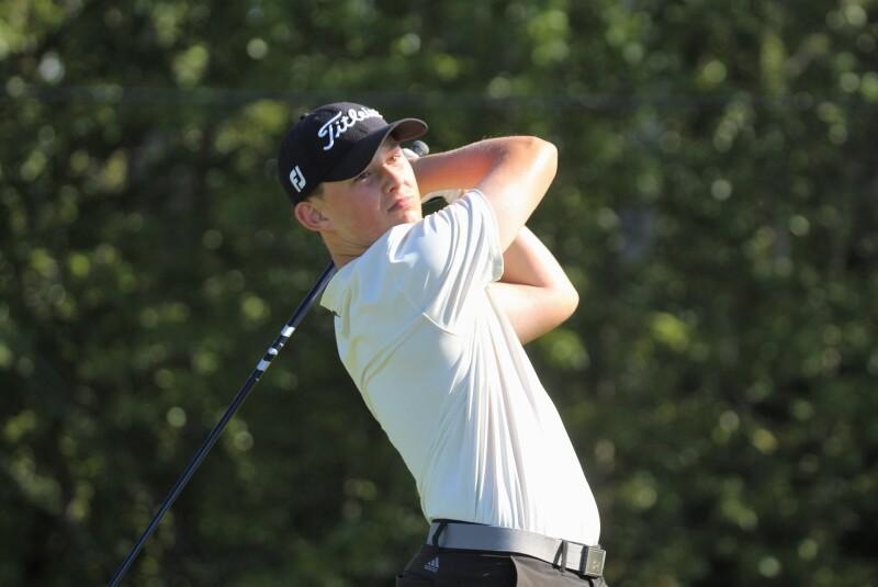 Tanner Overby 2nd Round Action Shot - 2020 - adidas Golf Junior All-Star.JPG