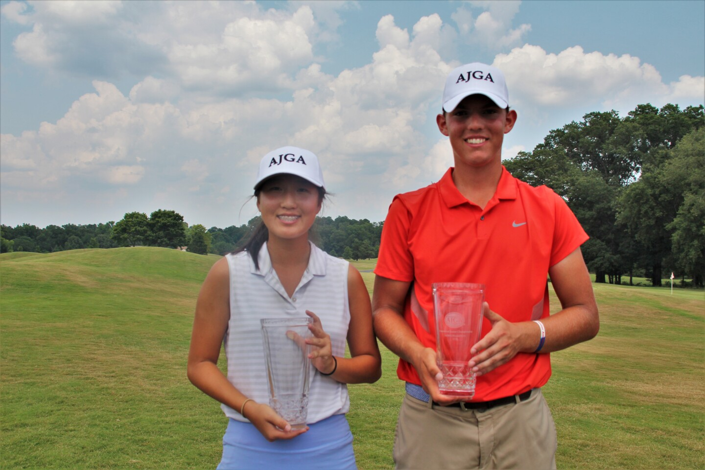 Sara Im and Marshall Meisel Greenwood Junior Championship Champs