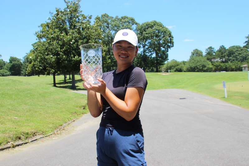 Mackenzie Lee holding trophy champion -2021- St. Francisville Area Foundation Junior at The Bluffs.JPG