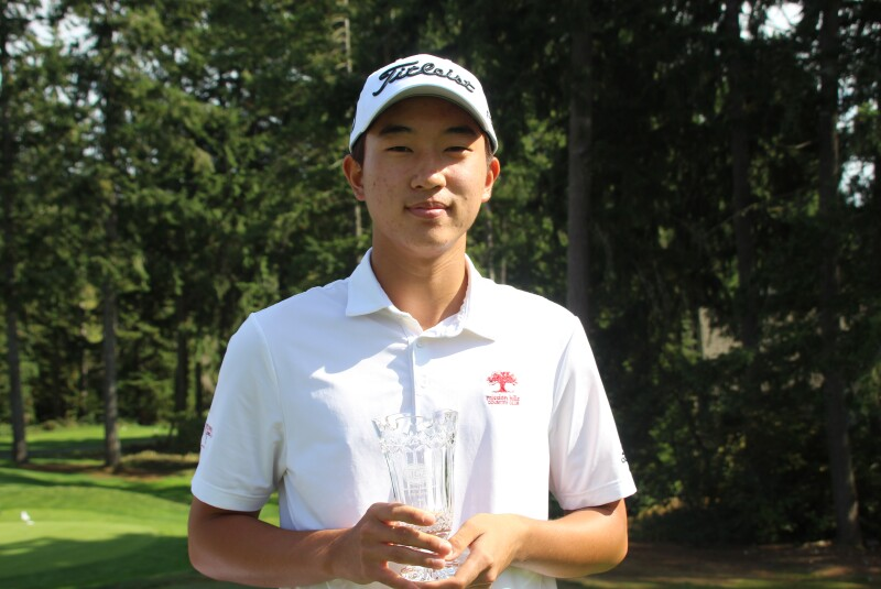 Daniel Heo with second place trophy zoomed in-2021-Transamerica Junior Open.JPG