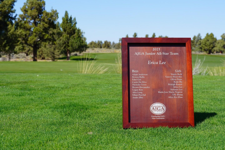Junior All-Star Team plaque - 2021 - AJGA Junior All-Star Invitational presented by adidas Golf