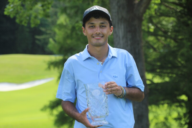 Nicholas Canales with trophy and adidas hat-2021-UHY St. Louis Junior.JPG