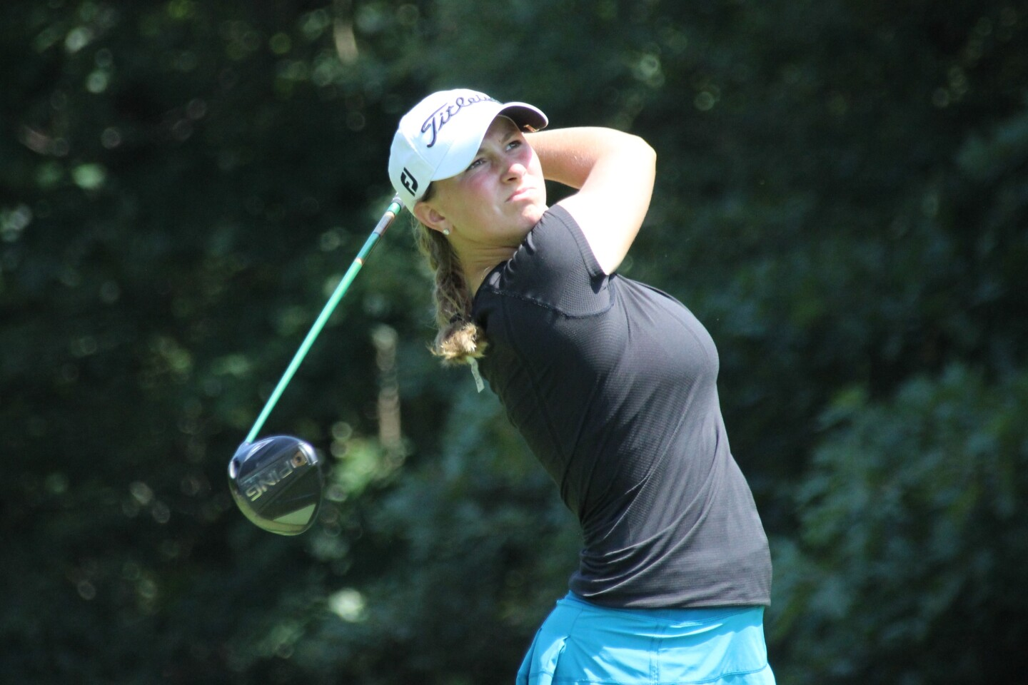Jennifer Cleary Second Round Action Shot - 2019 - AJGA Junior at Chicopee presented by John D. Mineck Foundation.JPG