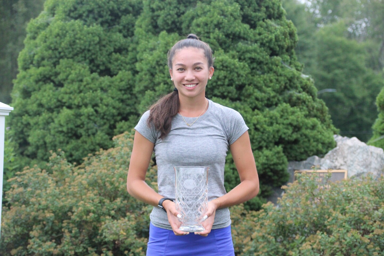 Rebecca Skoler with trophy  - 2020 - Junior Golf Hub Championship presented by John D. Mineck Foundation.JPG