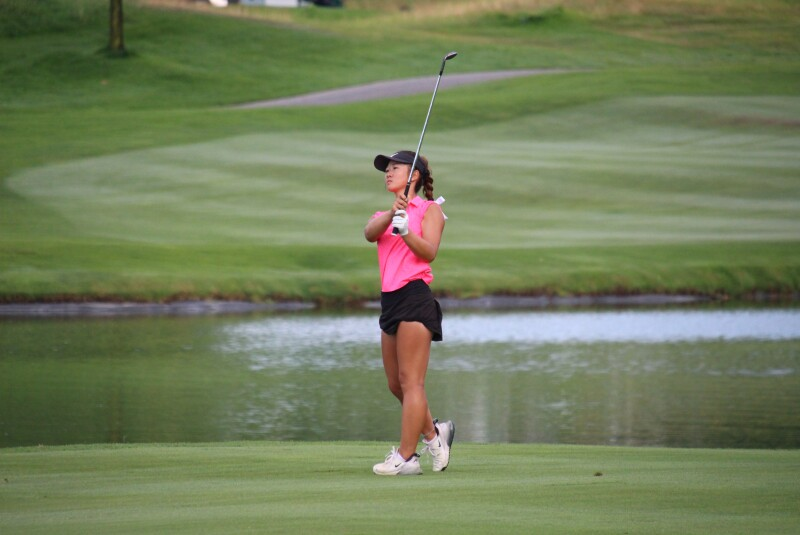 Katie Li chipping - 2021- Liberty National Golf Classic  (2).JPG