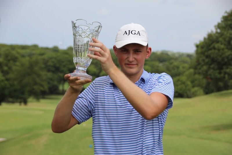 2021 - Tomek Pickrell - Boys Champion with trophy - Awards - AJGA Junior at Squaw Creek (37).JPG