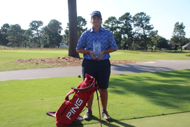 David Stanford AJGA hat PING bag and trophy - AJGA Junior at Longleaf.JPG