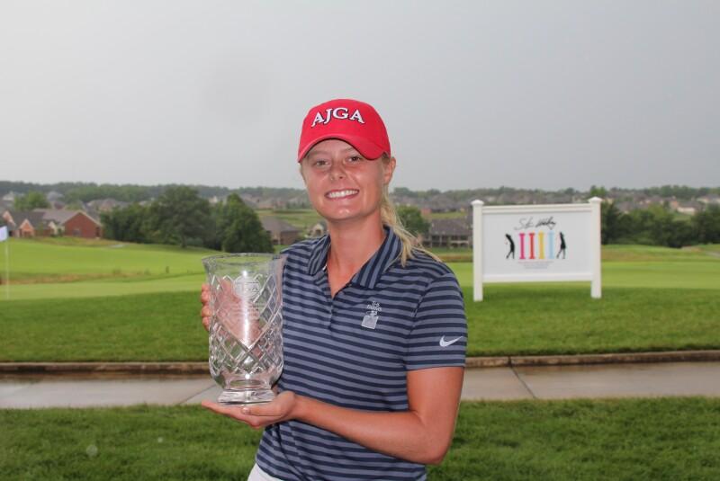 Brooke Biermann with AJGA Hat -2020- AJGA Stan Utley and Mid America Youth Golf Foundation Junior Championship.JPG