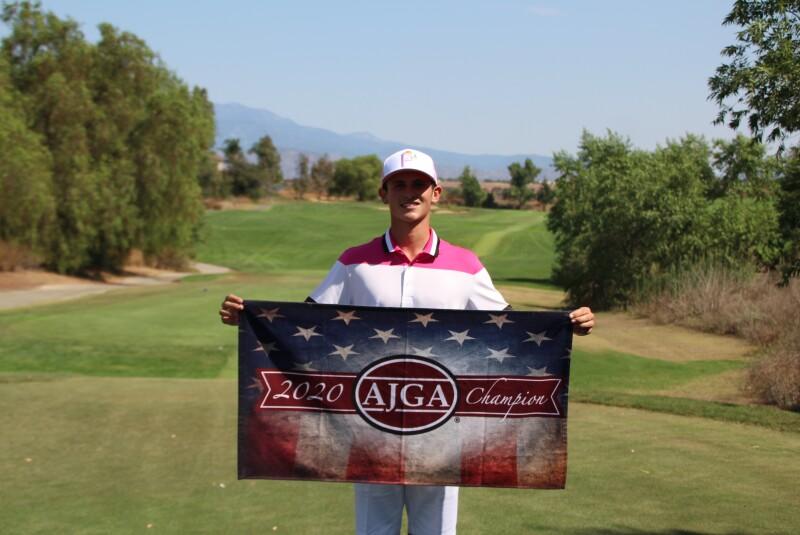Sam FitzGerald champ towel - AJGA Preview at Morongo - 2020.JPG