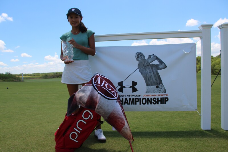 Under Armour Jordan Spieth Championship Bag & Banner Michelle Zhang.JPG