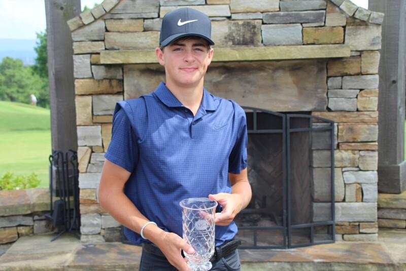 Boys Runner Up Chase Kyes trophy - 2021 - Stewart Cink Championship by Transamerica.JPG