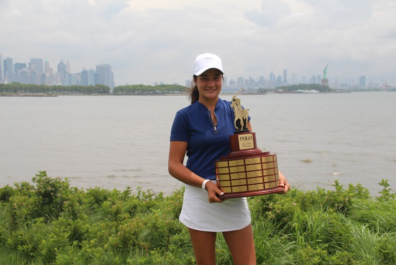 Kiara Romero with trophy -2021- Polo Golf Junior Classic.JPG