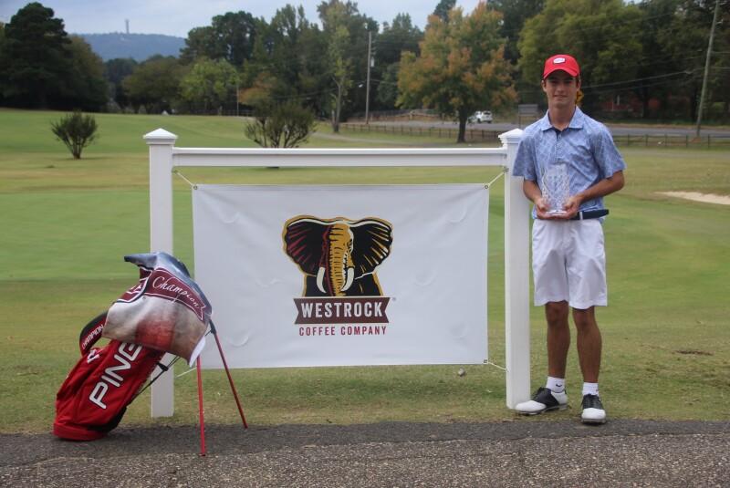 Ryder Cowan - Champion Trophy Photo - Sponsor Signage - Westrock Coffee Junior Championship - 2020 (1).JPG