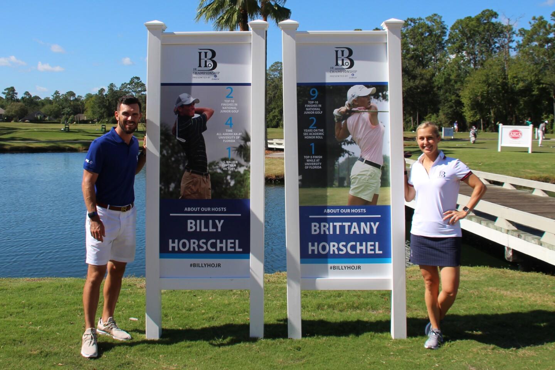 Billy and Brittany Horschel with Player Boards - 2019 - Billy Horschel Junior Championship (2).JPG