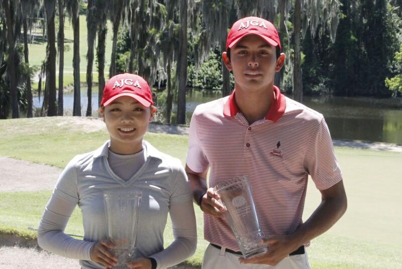 Sophie Guo & Leopoldo Herrera III Champion - 2019 - Bishops Gate Golf Academy Junior Championship.JPG