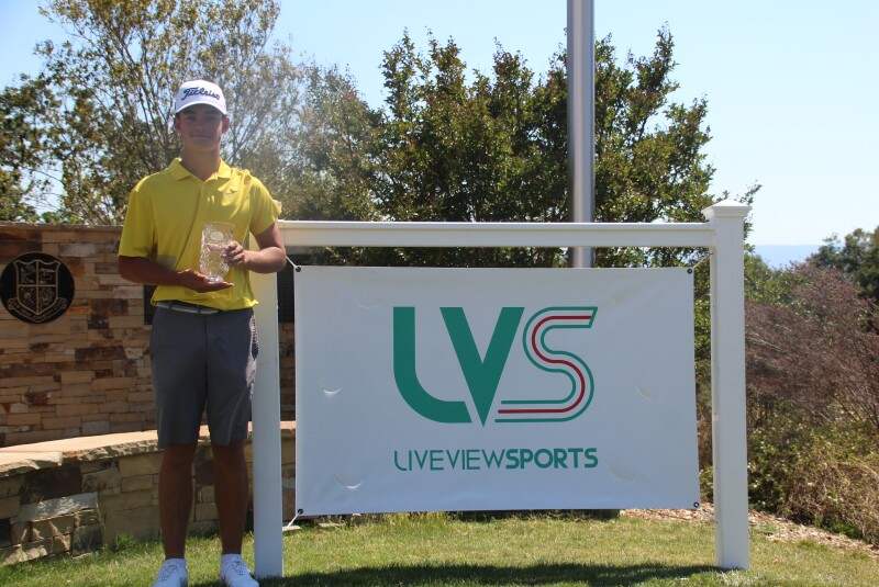 Jackson Koivun with sign - San Jose Jr presented by Live View Sports - 2021.JPG