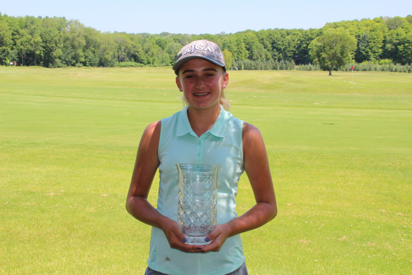 Gianna Clemente with AJGA hat -2020-CocaCola Junior Championship at Boyne Highlands (2).JPG